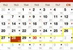 Lịch vạn sự tháng 4 năm 2015 kỳ 2