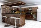 Phong thủy tủ rượu trong phòng bếp